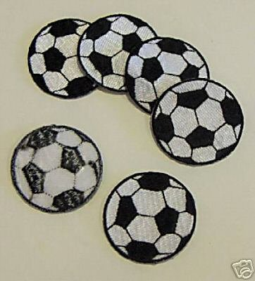 12 Embroidered Soccer Ball Patches