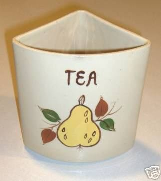 Vintage Lazy Susan Canister Replacement - Tea