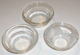 Vintage Glasbake Custard / Fruit Dishes - Set of 3