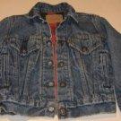 Vintage Levis Strauss Jacket Flannel Lined - Child Sz 8