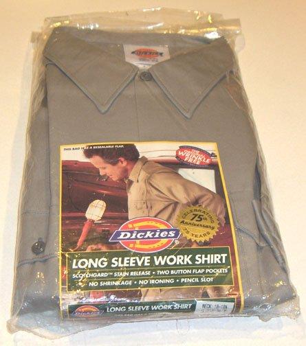 Dickies LONG SLEEVE GRAY WORK SHIRT Size XXL