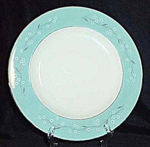 HOMER LAUGHLIN Cavalier Turquoise Melody Dinner Plate