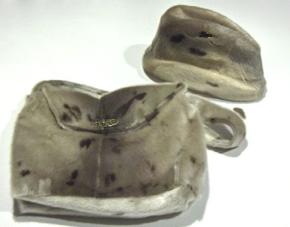 Vintage Fur Hat and Handbag