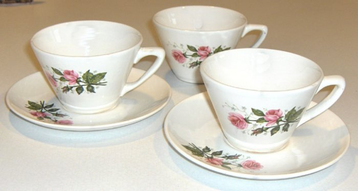 Vintage GOLDEN DAWN First Quality China Cup & Saucer - Set of 2