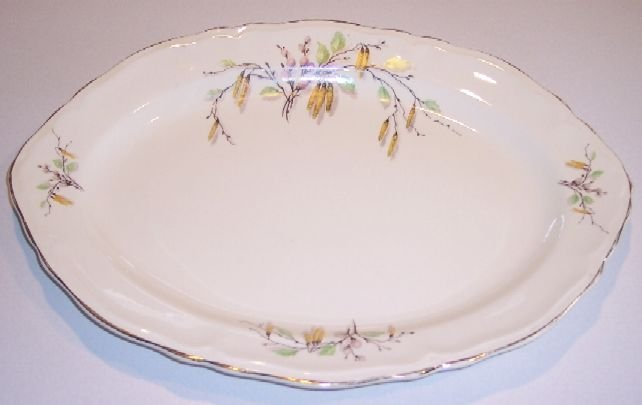 """Vintage Edwin M. Knowles SYLVIA Large Oval Platter 15"""""""