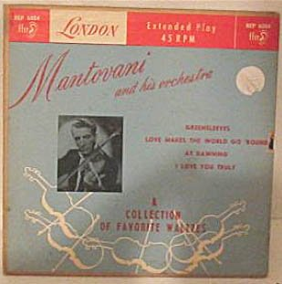 Mantovani and His Orchestra Extended Play 45 rpm