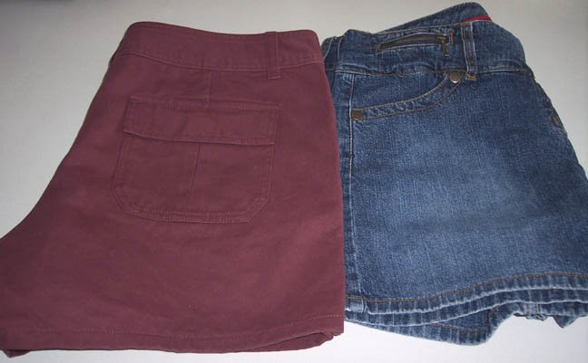 Paris Blues Soulmate Skort / Shorts and Old Navy Twill Shorts - Size 12