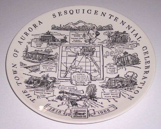 Town of Aurora New York Sesquicentennial Celebration Plate