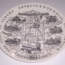 Vintage 1968 Town of Aurora New York Sesquicentennial Celebration Plate