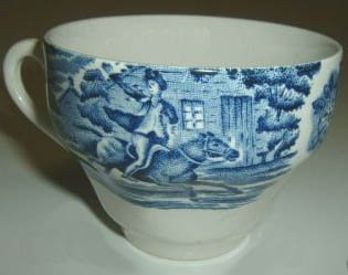 Staffordshire Ironstone Liberty Blue Cup (no saucer)  Paul Revere