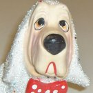 Stardust Hound Dog Planter with Red Polka-dot Bow-Tie