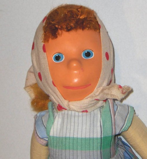Vintage Celluloid Peasant Doll - Cloth Body Sutton & Son England