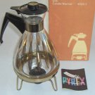 Pyrex 8 Cup Carafe 4608-3 with Candle Warmer, Original Box
