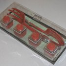 Vintage Styron Salad Fork and Spoon Set with Salt & Pepper Shakers - Mint in Original Box