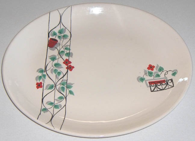 1950s Swinnertons 'Philodendron' Oval Platter - Made in England