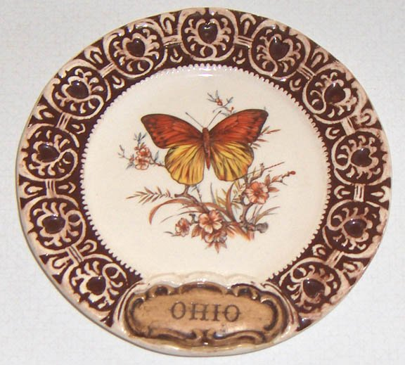 Vintage Treasure Craft Ohio Souvenir Plate - 6""
