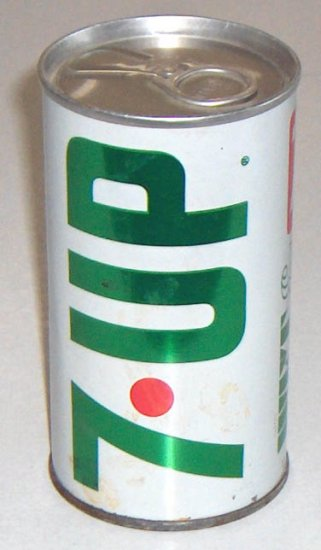 Vintage 1960s 7UP Aluminum/Steel Soda Can - Never opened