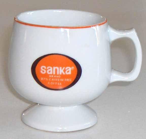 Vintage Sanka Coffee Mugs - MIJ - Set of 3