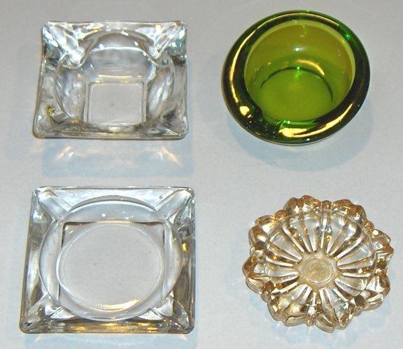 Vintage Glass Ashtray - Set of 4