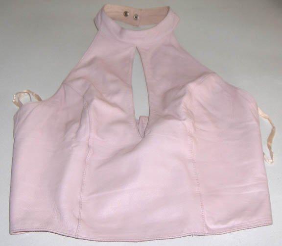 Wilson's Pelle Studio Pink Leather Halter Top Size M
