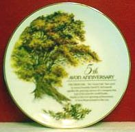 1988 Avon 5th Anniversary Plate - MIB