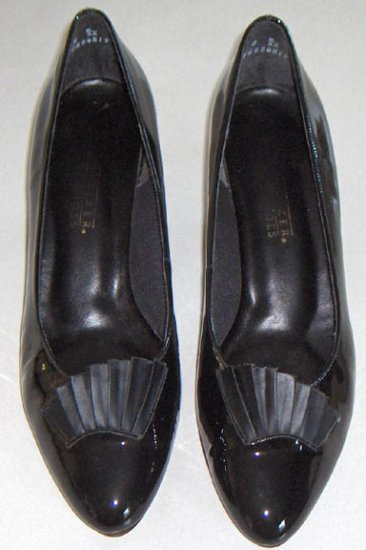 Naturalizer Rochelle - Black Patent Leather Shoes circa 1989 Size 8 B/AA