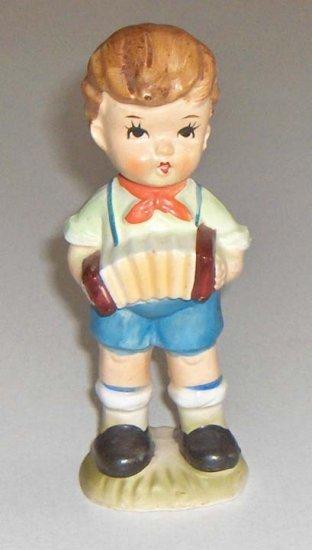 Vintage Hummel Style Bisque Boy with Accordian MIJ
