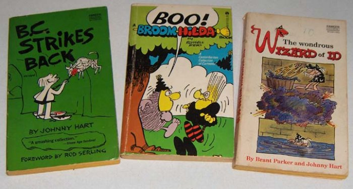 Vintage Paperbacks: B.C. Strikes Back, Wondrous Wizard of Id and Boo! Broomhilda