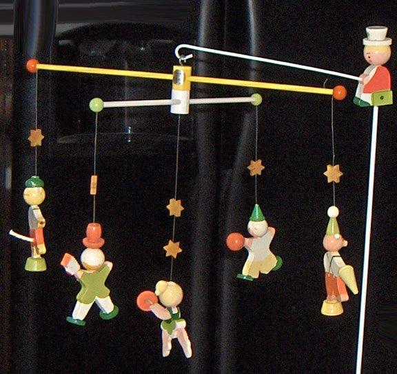 Vintage Nursery Circus Mobile byIrmiinOriginalBox sold 7.28.09