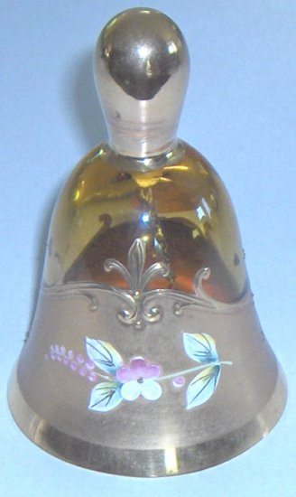 Bohemia Glass - Gold-plated Handpainted Glass Bell
