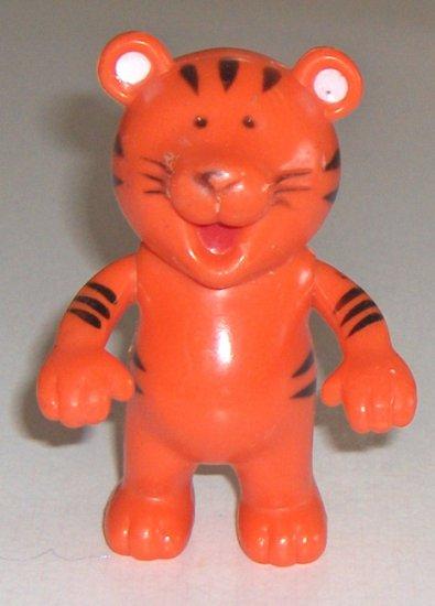 Vintage Arco Industries Ltd Orange Plastic Tiger - Made in Hong Kong