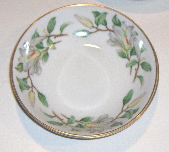 Treasure (WHITE MAGNOLIAS) by Contour China Fruit/Dessert Bowls - Set of 2