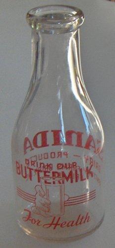Vintage Sanida Dairy 1 Quart Milk Bottle - Erie, Pa