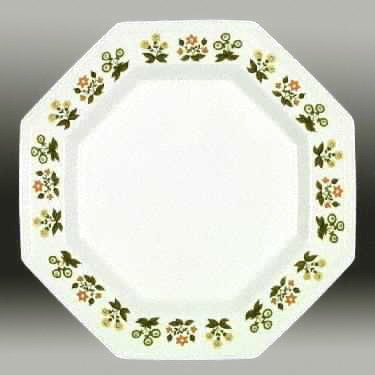 Vintage Johnson Brothers Heritage Posy Dinner Plates - Set of 3