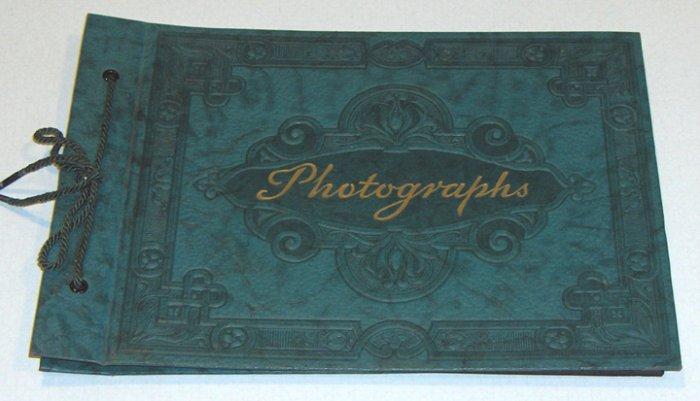 Vintage Embossed Dark Green Photographs Album