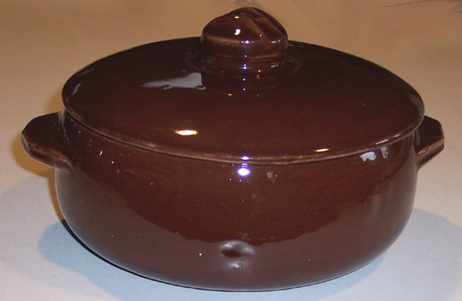 McCoy Brown Glazed Covered Casserole Dish
