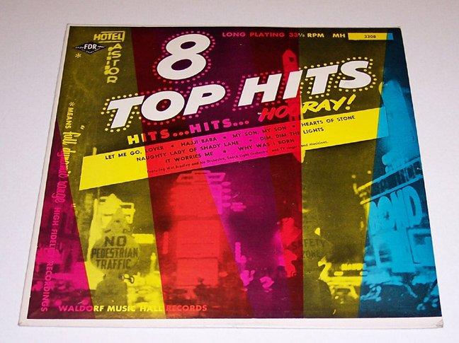 "Vintage 1954 Waldorf Music Hall's 8 Top Hits - Hits...Hits...Hooray! - 10"" Album # 3308"