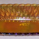 Vintage Indiana Glass Carnival Glass Pretzel Celery Dish