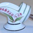 Vintage Shaker Scoop Sugar Bowl - Handpainted Pink Lily of the Valley