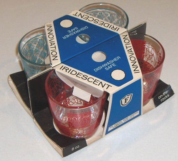 Vintage Federal Glass On-the-Rocks 8 oz. Glasses - MIB