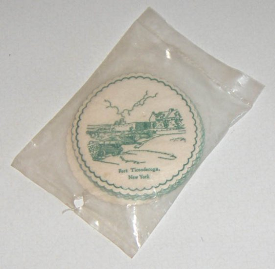 Vintage Royal Catch-All Fort Ticonderoga NY Coasters - 10