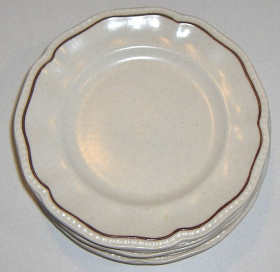 Vintage Kensington Staffordshire Ironstone Bread & Butter Plates - Set of 4