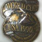 Soccer World Cup USA 1990 Brass Belt Buckle