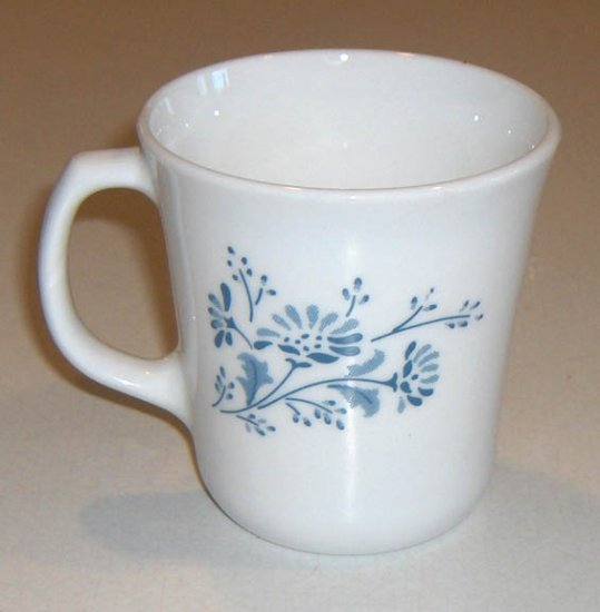 Corning Corelle Colonial Mist Blue Daisy Floral Mug - Set of 4