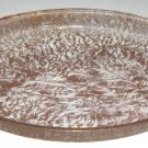 Vintage Huge Embossed Leaf Gold Pyrex Platter - 18""
