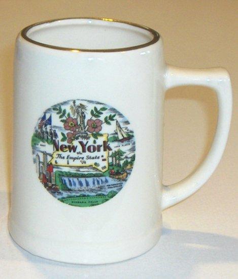 Vintage Souvenir New York State Niagara Falls Stein Mug