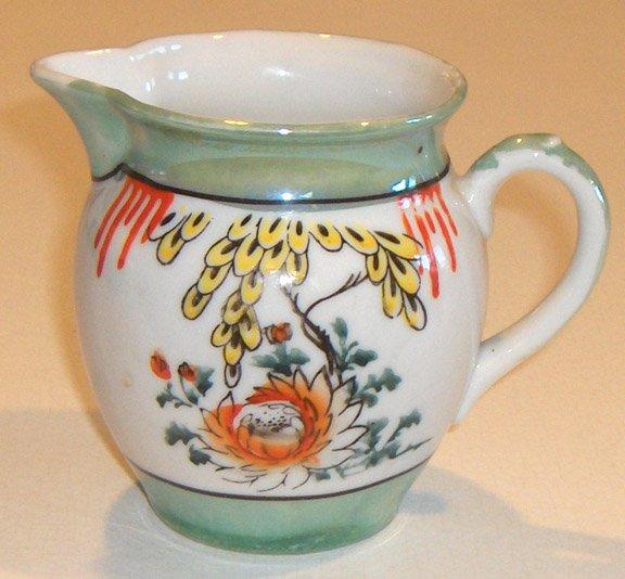 Vintage Lusterware Floral & Sea Green Creamer MIJ