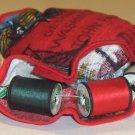 Handmade Pin Cushion Thread Caddy - Colonial Fabric