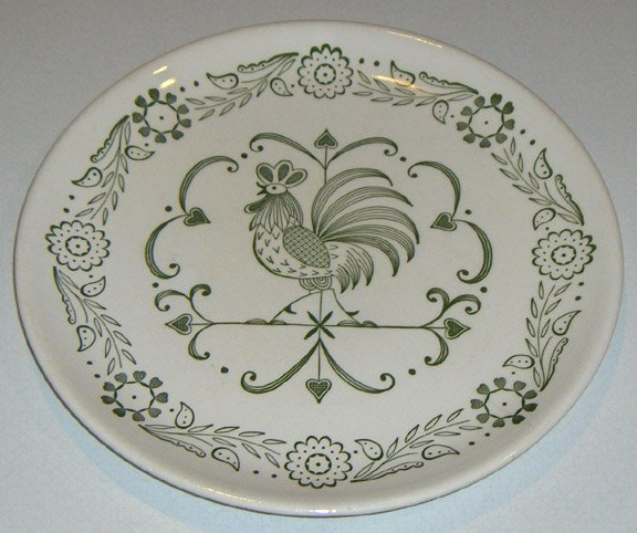 Vintage 1960s Scio Provincial Dinner Plate Set of 2