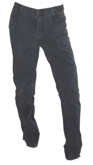 Vintage Jordache Men's Faded Black / Gray Left Hand Twill, Peg Leg Jeans - circa 1980s